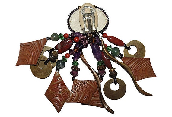 Gemstone Chandelier Earrings - image 6