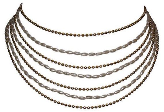 1970s Chanel Multi-Strand Bib Necklace