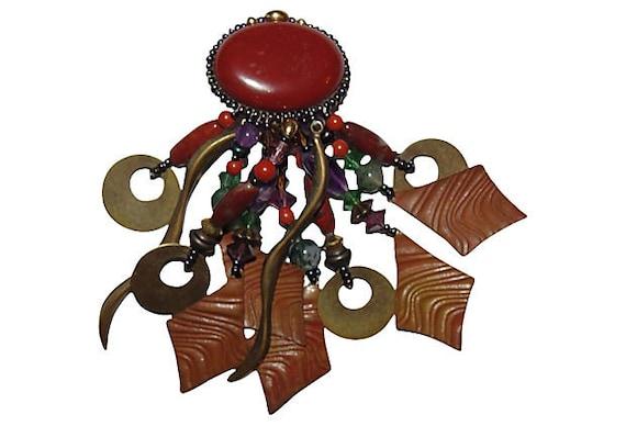 Gemstone Chandelier Earrings - image 5
