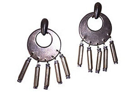 Silver Plated Dangle Chandelier Earrings