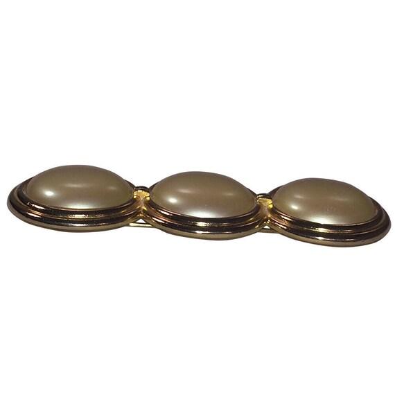 Yves Saint Laurent Simulated Pearl Bar Pin - image 2