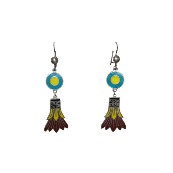 Mexican Egyptian Revival Inspired Sterling and Ena