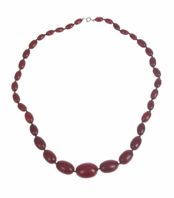 Victorian Graduated Cherry Amber Necklace