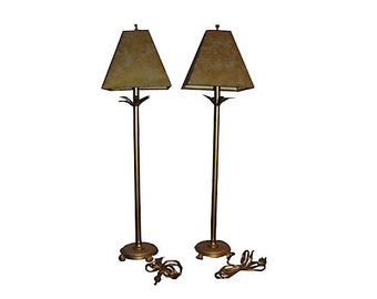 Golden Speckled Lamps Pair