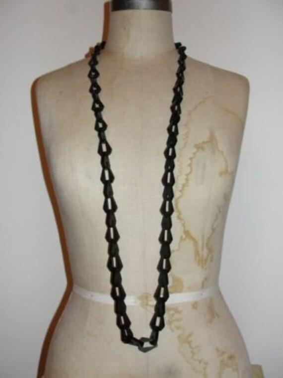 Flapper Vulcanite Necklace