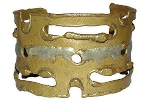 Brutalist Brass Cutout Cuff