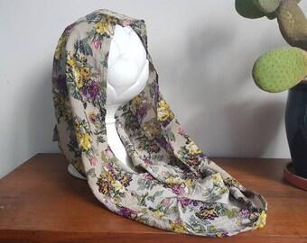 Floral Festival Hood, Gypsy Hood, Eco Rave Hood, Doof Hood, Meditation Hood, Faerie Hood, Boho Hood, Pointed Hood, Hippie, Psychedelic
