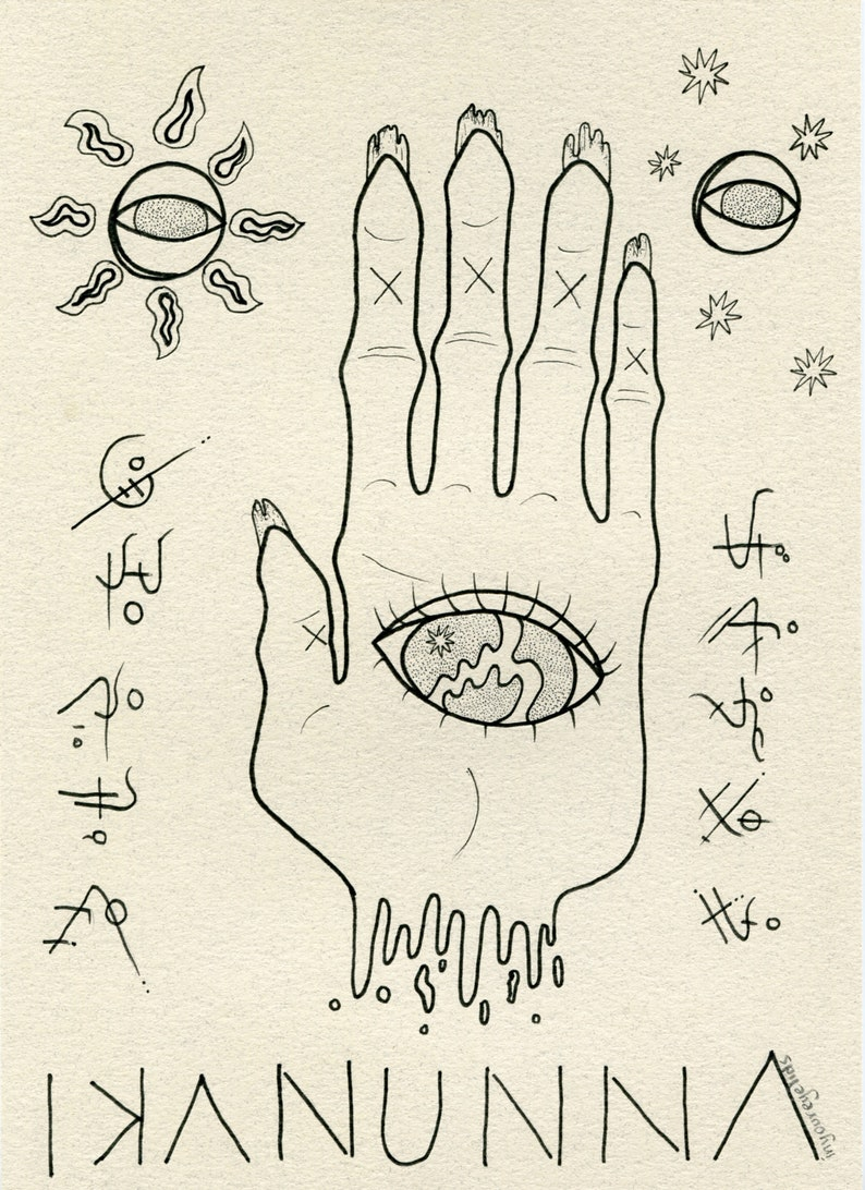 ANNUNAKI Art Print, Psychedelic Third Eye, Ancient Aliens, Evil Eye  Protection, Palmistry, Creepy, Alien Symbolism, Consciousness, Occult