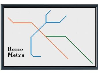Rome Metro Subway Map.Rome Metro Map Etsy