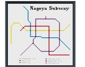 Nagoya Subway Map Pdf.Items Similar To Nagoya Subway Cross Stitch Pattern Japan Subway