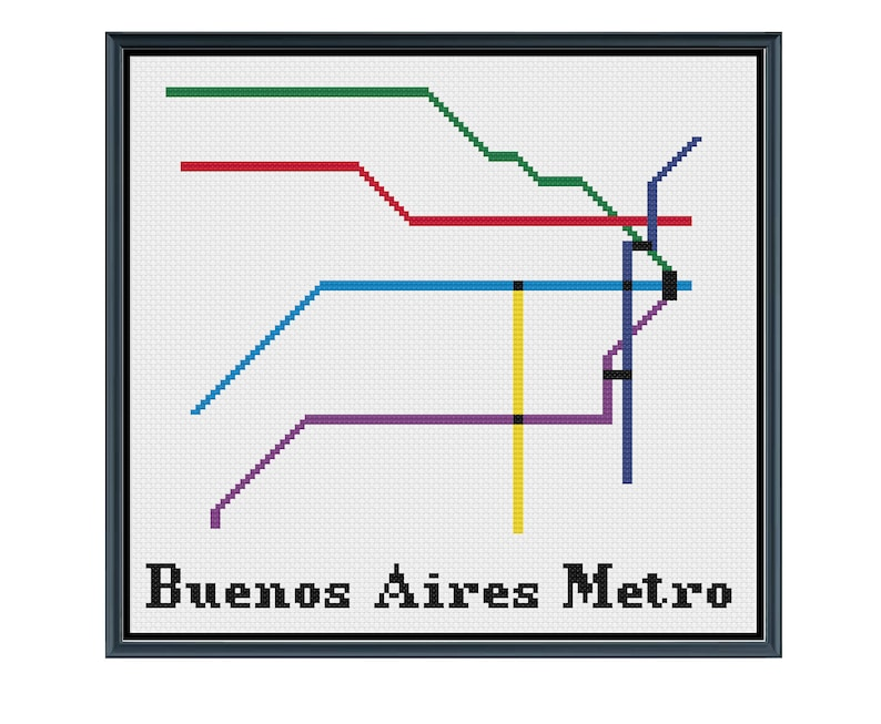 Nagoya Subway Map Pdf.Buenos Aires Metro Cross Stitch Pattern Argentina Subway Map Pattern Metro Map Pattern Home Decor Pdf Instant Download