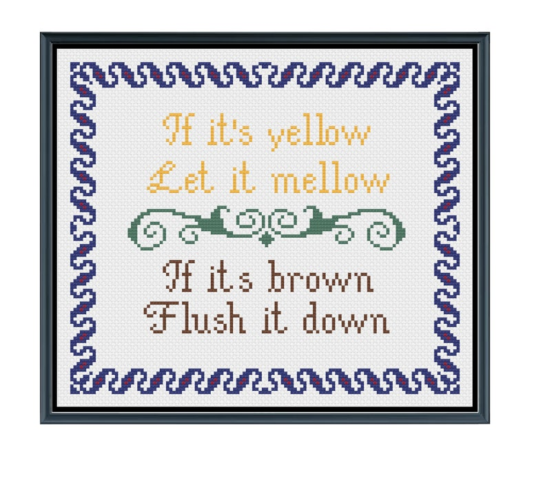 IF ITS YELLOW LET IT MELLOW IF ITS BROWN FLUSH IT DOWN poop retro Funny T-Shirt