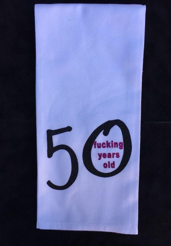 50th Birthday Towel Turning 50 Gift Funny