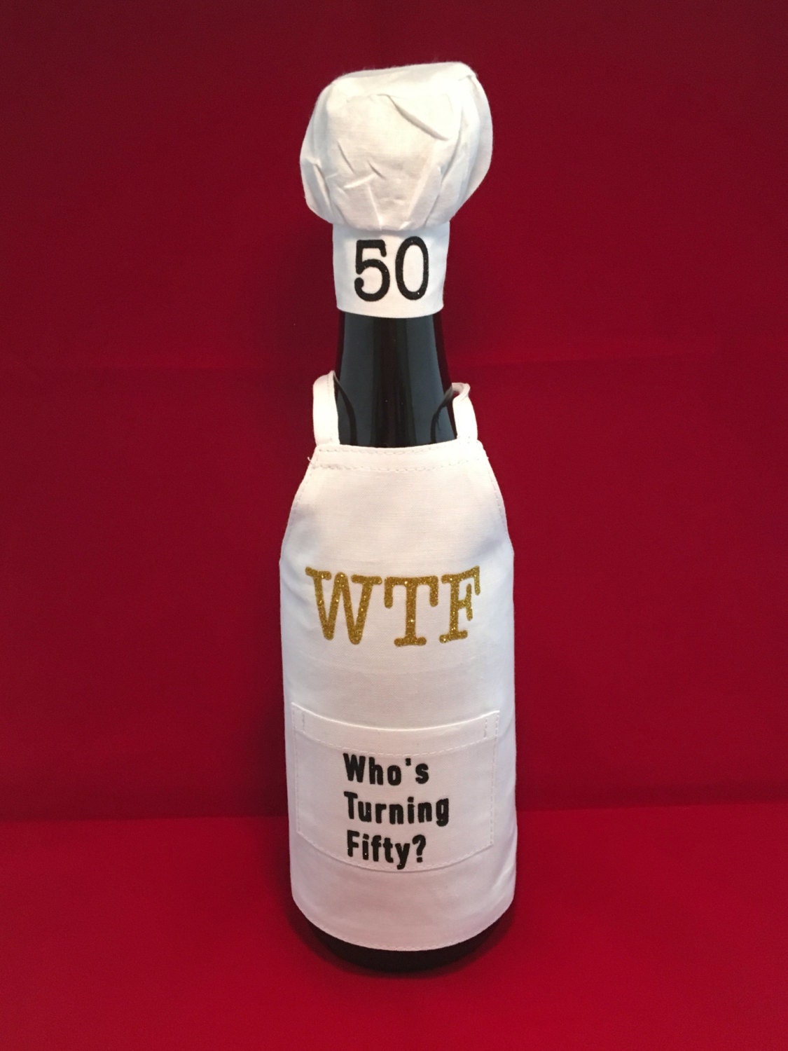 Over the Hill SALE Warning woman turning 50 Birthday Wine Stopper Birthday Gift