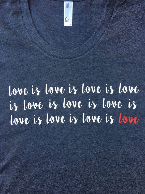 94e3d054b Love is love love shirt Inspirational black tshirt LGBT | Etsy