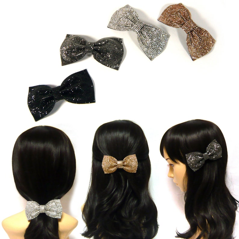 Crystal Fashion Accessories Girls Hair Clip Bow Big Bowknot Barrette Hairpin
