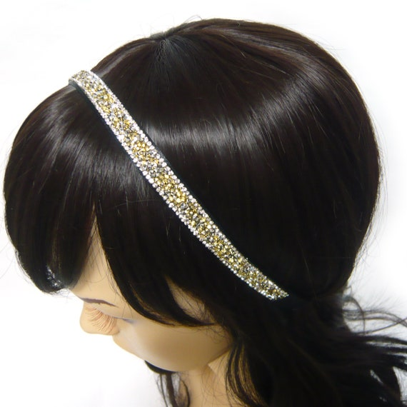 New Rhinestones Elastic Headband Crystals Butterfly Wedding Jewels Stretch