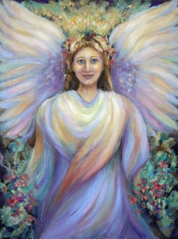 897700ca3 Guardian Angel-Angel Art Print of 'Guardian Angel' | Etsy