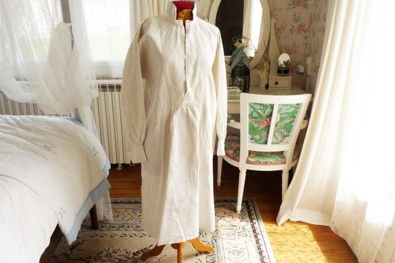 Antique Hemp Evening Dress Shirt, Rare,  Hand Wove