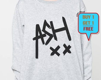 bac4578f0ab Ashton Irwin sweater women shirt tshirt men sweatshirt ash xx shirt jumper  tee long sleeved tshirt black grey tee