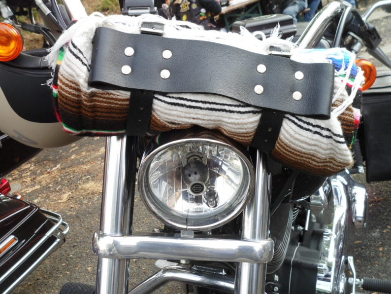 Leather blanket Roll Camping Gear motorcycle Rider Door blanket for custom motorcycle in 4 mm leather Made in Italy
