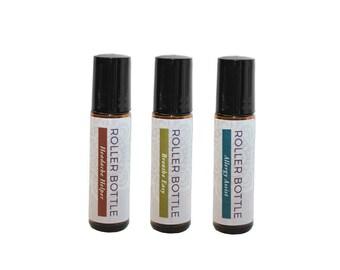 Rouleau bouteille 3 pack - Assistant de maux de tête, Breathe Easy et aider les allergies
