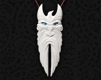 REHUA (Maori Star God), New Zealand - Bone Pendant - Bone Necklace - Tribal Pendant - Bone Carving - Maori Jewelry, Healer
