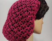 1940s Hair Snoods- Buy, Knit, Crochet or Sew a Snood LoversKnot Hair Snood LinenBlend in Cherry Red  1940s Glamour $23.51 AT vintagedancer.com