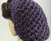 1940s Hairstyles- History of Women's Hairstyles LoversKnot Hair Snood LinenBlend 1940s in Grape $23.51 AT vintagedancer.com