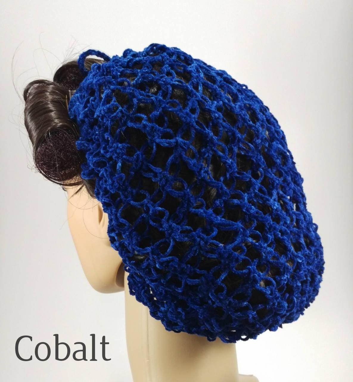 1940/'s Glamour Velvet Baby Blue Lover/'s Knot Hair Snood