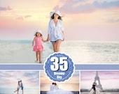 35 Dreamy romantic pastel sky, skies clouds gimp overlay, beach realistic magical lavender sky, Photoshop Overlays, digital backdrop jpg