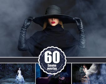 60 color colored fog smoke Photo Overlays, Photoshop overlay, realistic cigarette smoke, mistical mistic foggy clouds effect, jpg file