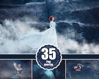 35 Fog mist photo overlays, smoke,  Photoshop Mix overlay, realistic smoke, mystical smoke, mystic foggy Clouds Effect, png file