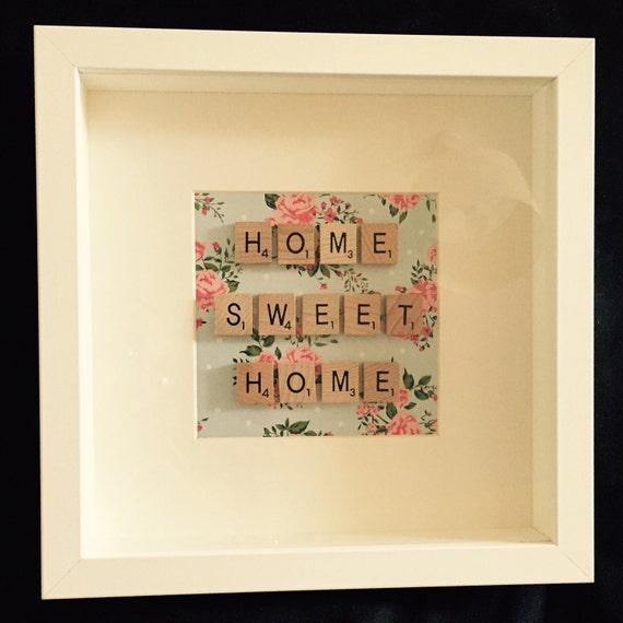 Scrabble Art Home Sweet Home Frame Etsy
