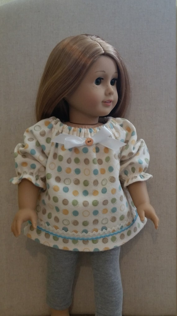 e056e3891b Baby girl and 18 in doll flannel peasant style tops baby girl
