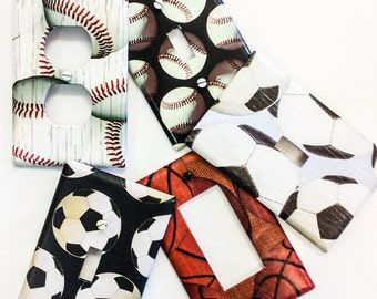 Light Switch Cover Plates ~ Sports Wall Decor ~ Outlet Covers
