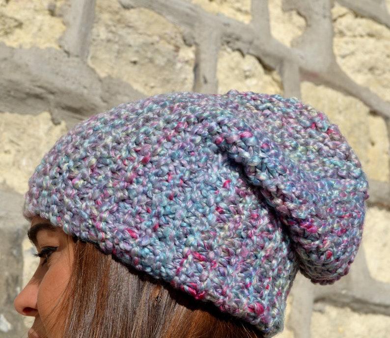 3f84666b6b8 Handmade spring beanie hat Knitted slouchy beanie hat