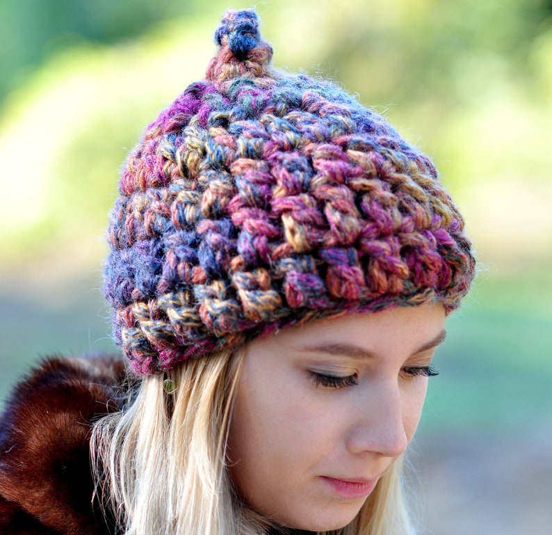 95a5fbb7c26 Crochet spring hat Slouchy wool hat Women s braided hat