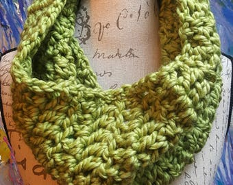 Wool Blend Lime Green Cowl