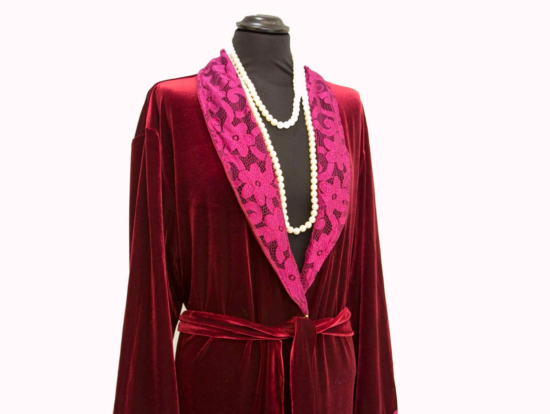 e526296376ed LAST ONE - 50% OFF - Night Dress in Velvet Dressing Gown ...