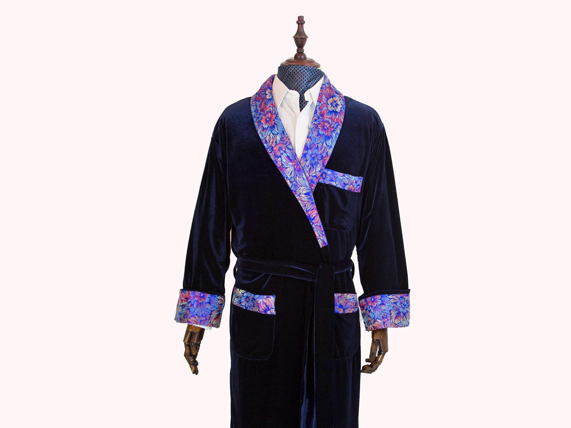 Pajamas & Robe for Men, Velvet Dressing Gown, Night Dress, Wedding ...