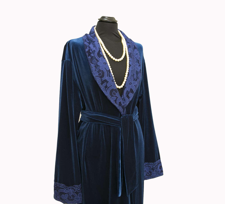 Night Dress in Velvet Dressing Gown, Pajamas & Robe for Women ...