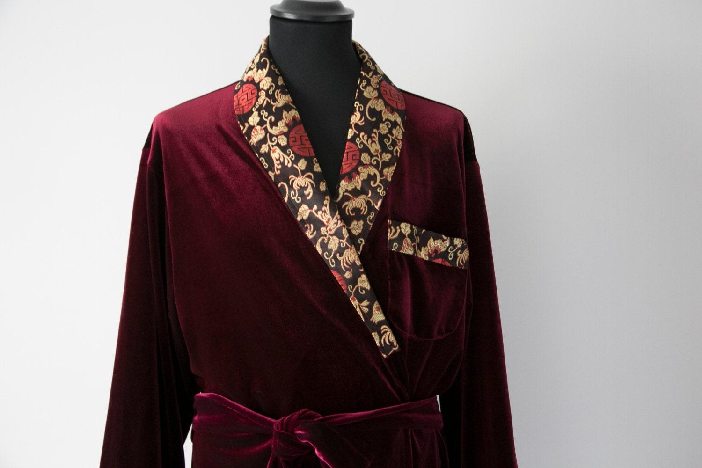 VELVET Morning Robe Housecoat Long, Men