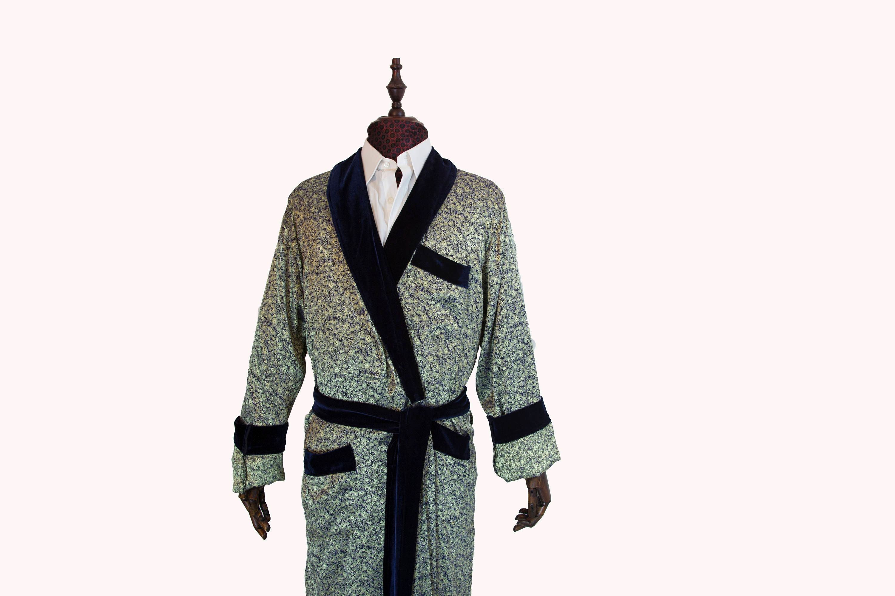 Silk Sleeping Gown for Men, SILK SOFT for Men Dressing Gown, Night ...