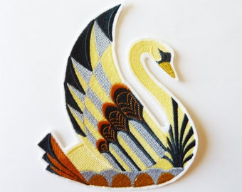 Large Swan art, fusible patch