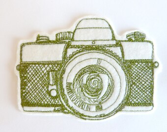 Camera badge patch embroidered patch