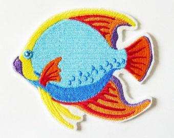 Fusible sea fish embroidery machine