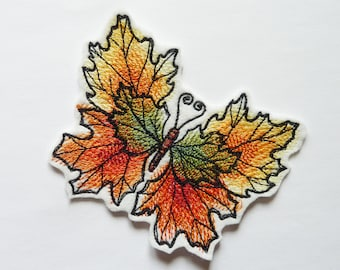 Butterfly leaf thermosticking patch