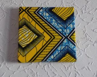 Yellow wax painting