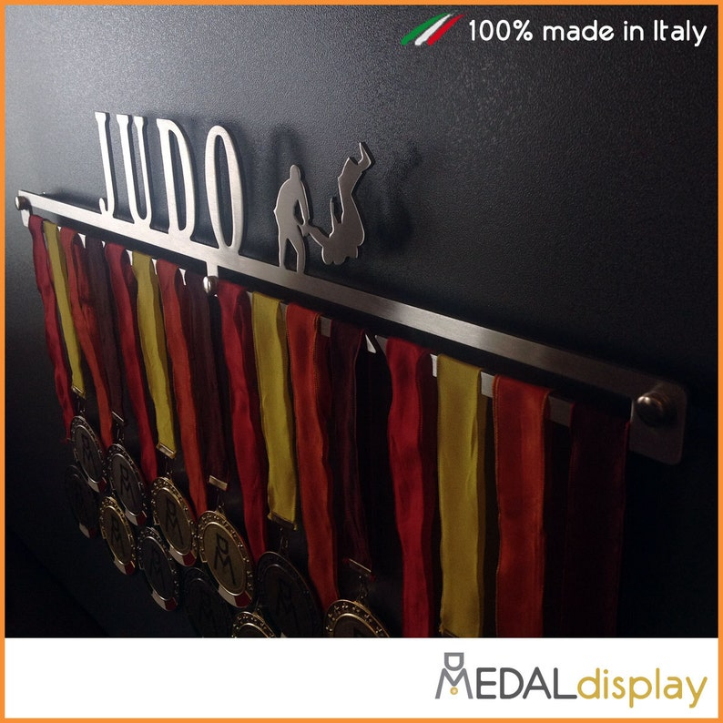 JUDO stainless steel wall medal hanger holder 100% made in image 0